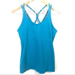 Athleta Empowerment Strappy Back Tank in Turquoise
